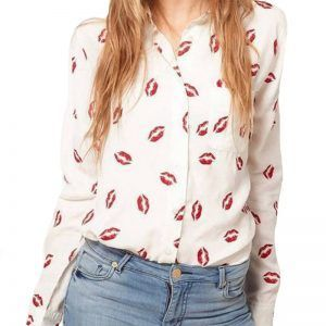 2016-Fashion-Stand-Collar-Red-Lip-Print-White-Chiffon-Blouse-Lady-Shirt-Long-Sleeve-Blouse-Women