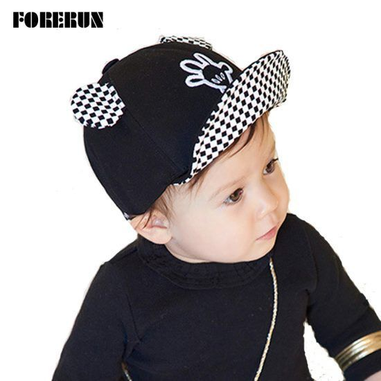 2016-New-Baby-Hat-with-Ears-Beard-Hello-Animal-Cartoon-Kids-Baseball-Hat-Palm-Baby-Boy