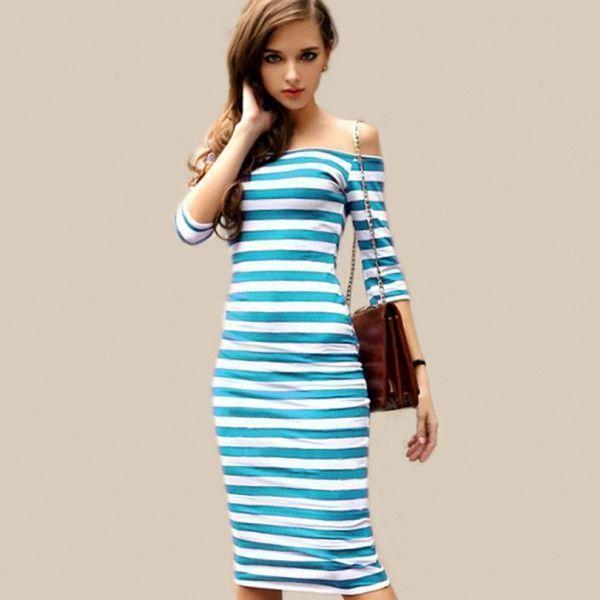 vestido de verano a rayas