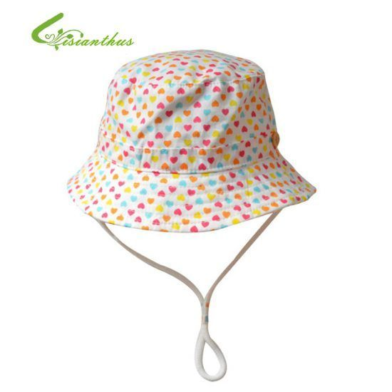 Children-Girls-Sun-Hats-Spring-Summer-Caps-Little-Hearts-Beach-Hat-Baby-Kids-Princess-Cap-New