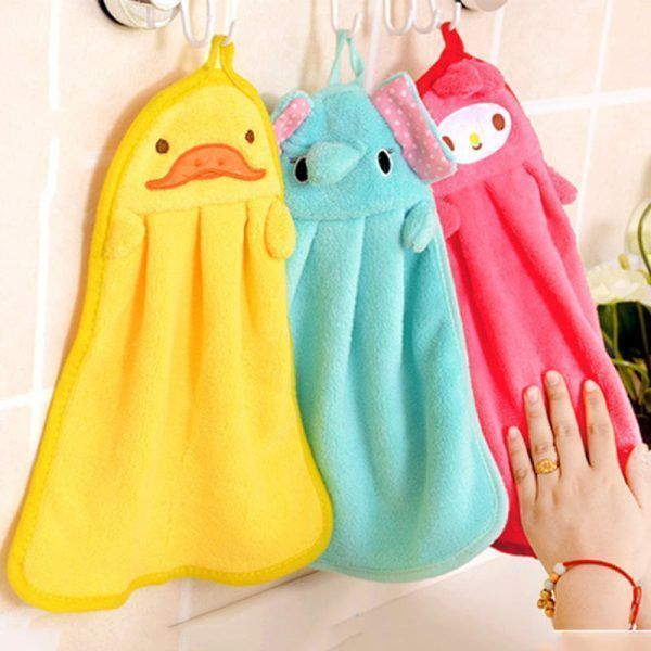 Children-Nursery-Hand-Towel-Cartoon-Animal-Kitchen-Bath-Hanging-Wipe-Towel