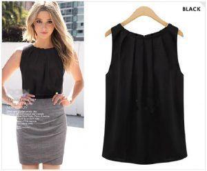 blusa negra sin mangas