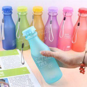 Caliente-venta-550-ML-caramelo-Colord-Portable-botella-de-agua-de-pl&aacute