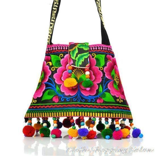 New-National-Handmade-Embroidery-Bags-embroidered-handbag-Ethnic-Women-Messenger-Shoulder-bag-Pompon-women-tassel-Small