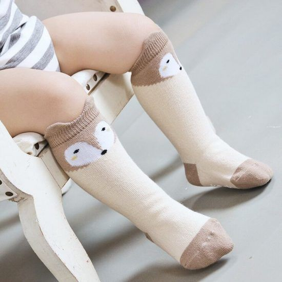 fox-design-3-colors-cotton-knee-baby-socks-winter-fall-cute-boys-girls-socks