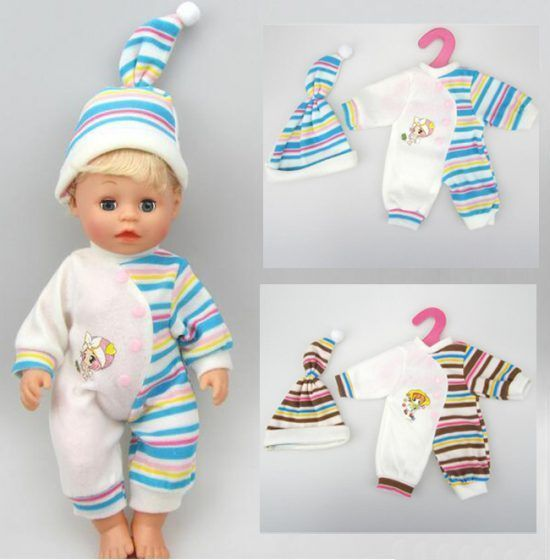 new-clothes-set-for-14-baby-doll-35cm-baby-doll-clothes-newborn-suit-with-cap-for