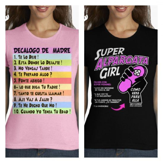 Camisetas frases madres