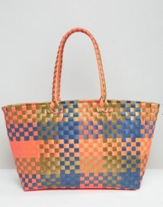 bolsa playa multicolor