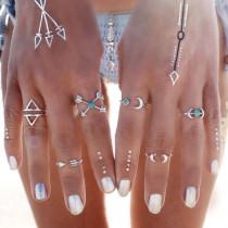set de 6 anillos de verano