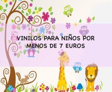 8 Vinilos de animales para decorar la habitación de los niños por menos de 7€