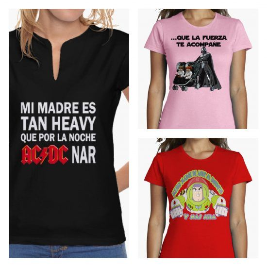 camisetas de cine y musica para madres